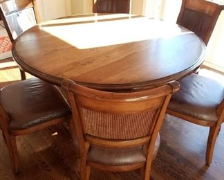 Handcrafted kitchen table and chairs; hand crafted by Mennonites.