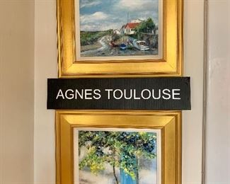 Featuring the French landscape paintings  by Agnes Toulouse