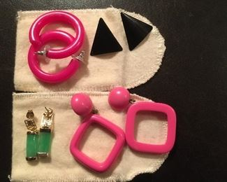 If pink is your color we have earrings for you