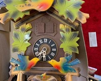 Cuckoo clock from Germany three weights top needs some repair