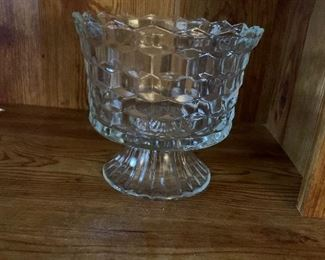 American Fostoria footed candy dish/truffle dish