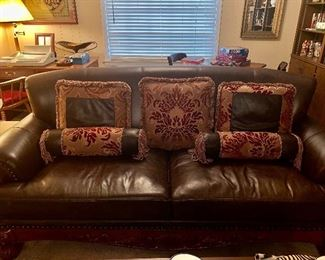Bonded leather couch, great condition