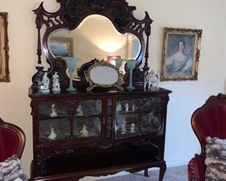Victorian sideboard with mirror