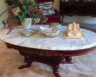 Marble top Victorian coffee table