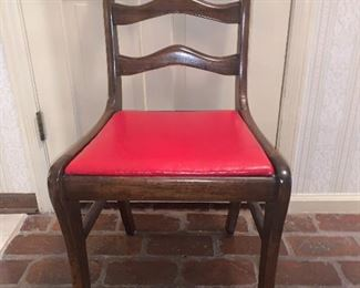 One of four breakfast room dining chairs
