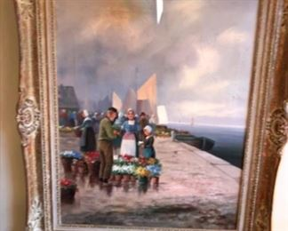 Early 1900's framed oil on canvas by Hungarian artist, R. Kratter