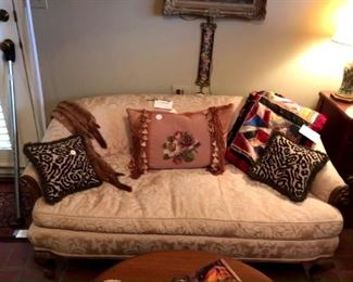 French settee with down cushion