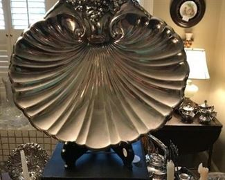 Silver fluted platter