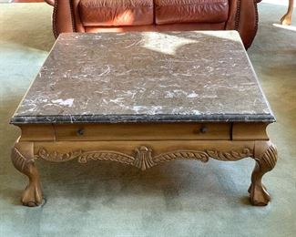 COFFEE TABLE W/ MARBLE TOP