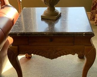 END TABLE W/ MARBLE TOP
