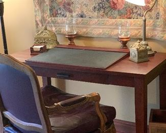 DESK AND LEATHER CHAIR