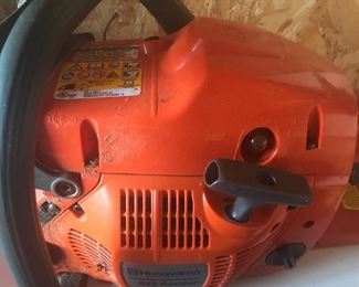 Alternate view of chain saw