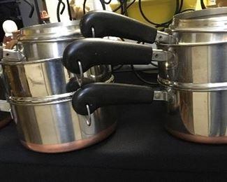 Vintage Revere Ware cookware