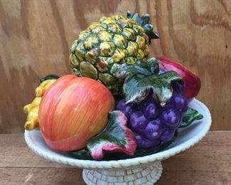 Vintage ceramic fruit centerpiece