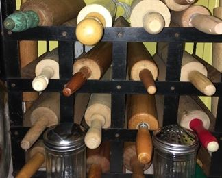 Collection of vintage rolling pins
