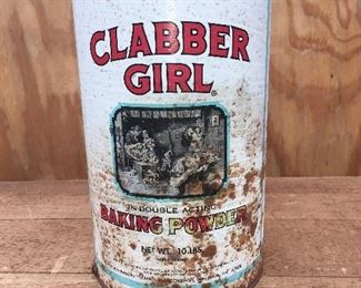 Vintage Clabber Girl canister (10 lbs.)