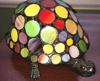 Stain glass turtle lamp