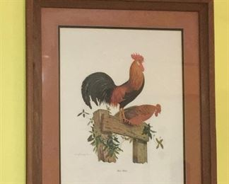 Rooster and hen decor