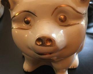 Vintage pig back