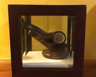 Masonic pipe in display case