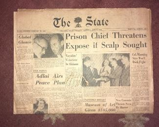 Vintage newspaper