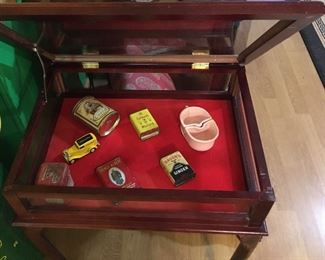 Interior view of display cabinet