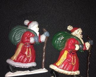 Cast iron Santa door stop