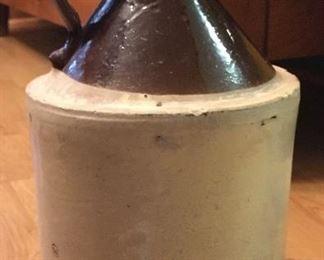 Vintage pottery whiskey/moonshine jug