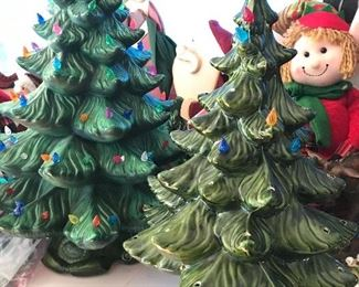 Christmas light up ceramic trees