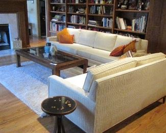 MCM sofa and loveseat with constellation table