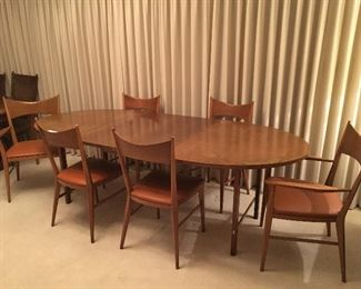 "McCobb Irwin Collection ""bow tie "" chairs and dining table"