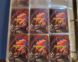 Hundreds of Marvel Overpower Card Game Cards