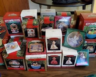 Huge Amounts of Hallmark Collectible Ornaments (Barbie, It's a Wonderful Life, etc) and Other Ornaments