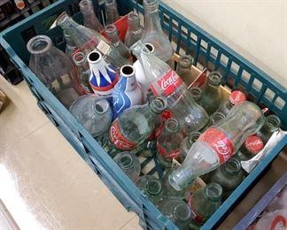 Vintage Coke, Pepsi and local Blue Island Bottles