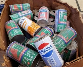 Vintage 7up State Cans, Pepsi-Cola, Miscellaneous Soda Cans