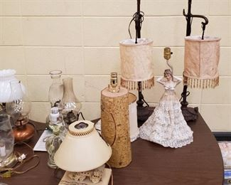 Large Selection of Vintage Lamps