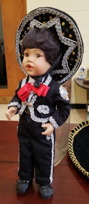 "Danbury Mint ""Jose"" Mariachi Porcelain Doll"