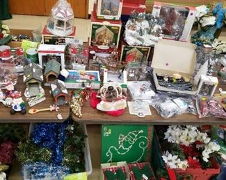 Christmas Decor and Village Pieces