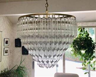Vintage chandelier-glass cylinder