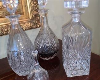 Crystal Decanter  and crystal bell