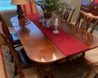 Gorgeous 6 Chair  2 leaf Dining table