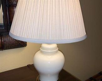 White ceramic lamp small