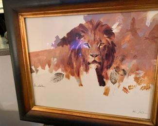 """King of the Jungle"" by Vic Guthrs renowned Artist"