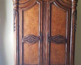 Bedroom armoire matches queen bedroom furniture