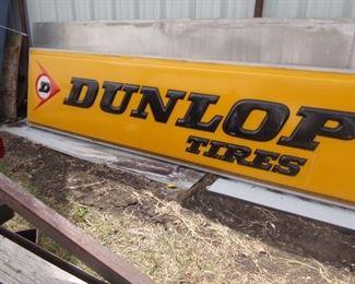 Large Dunlop Tires Sign