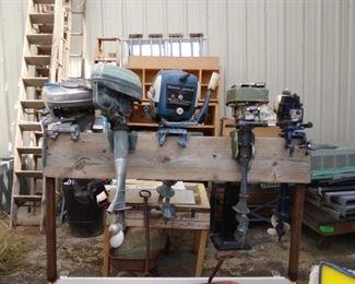 Marine Motors of Many Types - Ladders to the left - Many Sizes