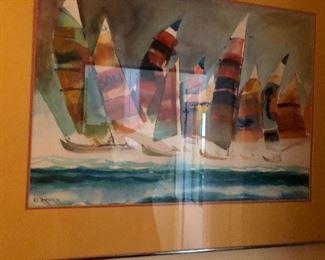 Watercolor by R. E. Templeton