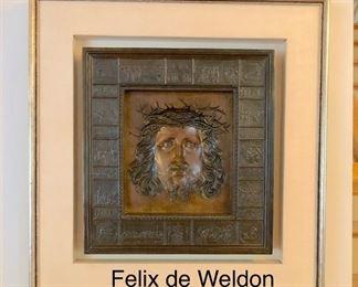 Felix de Weldon Christ The Humanity Bronze wall hanging