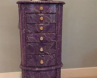 Custom Faux Painted Jewelry Cabinet