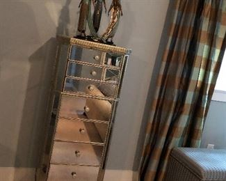 Basset mirrored lingerie or jewelry chest.  The Bronze has been moved to the main level.